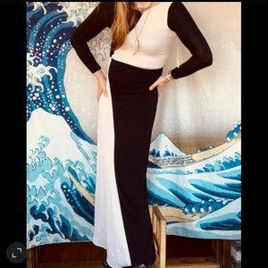 NWT Alice/Olivia silk Colorblock maxi dress XS